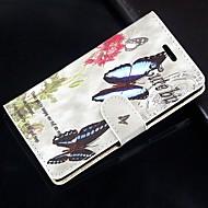 Для Кейс для  Samsung Galaxy Бумажник для карт / Кошелек / со стендом / Флип Кейс для Чехол Кейс для Бабочка Искусственная кожа SamsungS