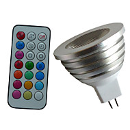 GU5.3(MR16) LED Spotlight MR16 1PCS High Power LED lm RGB 6500K-7000K Dimmable Remote-Controlled Decorative DC 12 AC 12V