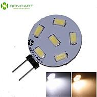 お買い得  LED スポットライト-SENCART 270-300lm G4 LEDスポットライト MR11 6 LEDビーズ SMD 5730 装飾用 温白色 / クールホワイト 12V / 24V / 1個 / RoHs / CE