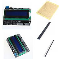 お買い得  Arduino 用アクセサリー-1602 LCDキーパッドシールドとArduinoのためのアクセサリー