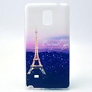 Недорогие Чехлы и кейсы для Galaxy Note-Кейс для Назначение SSamsung Galaxy Samsung Galaxy Note С узором Кейс на заднюю панель Эйфелева башня ТПУ для Note 4