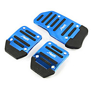 abordables Pedales-pedal pedales deslizamiento coche acelerador de pedal de freno de aluminio adecuados para coche manual (colores surtidos)