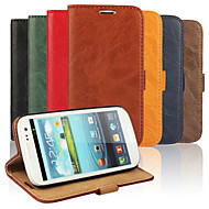 cheap Cases / Covers for Samsung-Case For Samsung Galaxy Samsung Galaxy Case Card Holder Wallet with Stand Flip Full Body Cases Solid Color PU Leather for S3