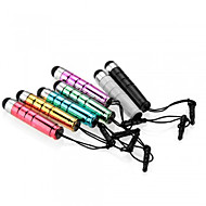 kinston® 7 x kogel intrekbare capacitive touch pen met anti-dusk oortelefoon plug voor iPhone / iPad / Samsung en andere