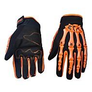 Motorrad-Handschuhe Vollfinger Nylon/Lycra/ABS M/L/XL Grün/Blau/Orange