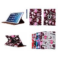 Για Θήκες Καλύμματα με βάση στήριξης Περιστροφή 360° Οριγκάμι Πλήρης κάλυψη tok Λουλούδι Ύφασμα για iPad Air 2