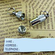 abordables Hogar y Mascotas-Perro Etiquetas Etiquetas de Identificación Seguridad Un Color Aluminio Blanco/Plata