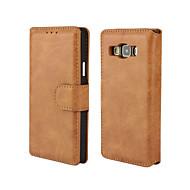 Pour Samsung Galaxy Coque Porte Carte Avec Support Clapet Magnétique Coque Coque Intégrale Coque Couleur Pleine Cuir PU pour SamsungA7 A5