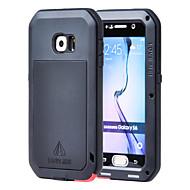お買い得  Samsung 用 ケース/カバー-ケース 用途 Samsung Galaxy Samsung Galaxy ケース 水/汚れ/ショックプルーフ フルボディーケース 鎧 メタル のために S6