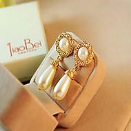 お買い得  -女性用 ドロップイヤリング  -  人造真珠, ラインストーン ドロップ 欧風 ゴールド / クリーム色 用途