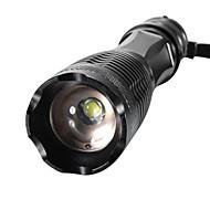 XML-T6 Lampes Torches LED LED 2000/1600/1800 lm 5 Mode XM-L2 T6 Fonction Zoom Faisceau Ajustable Résistant aux impacts Surface