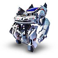 billiga Originella leksaker-7 In 1 Robotar Soldrivna leksaker Leksaker Soldriven Uppladdningsbar ABS Bitar Present