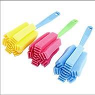 abordables Escobillas y cepillos de mano-limpieza del hogar Cepillo herramienta Esponja para la cocina taza de café botella copa vaso de té de color al azar