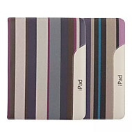 cheap iPad Accessories-9.7 Inch Stripe Pattern Canvas Case with Stand for iPad 2/3/4
