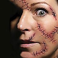 1 Tatuajes Adhesivos Otros Non Toxic Halloween Parte Lumbar WaterproofNiños Mujer Hombre Adulto Juventud flash de tatuajeLos tatuajes