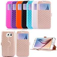 Для Кейс для  Samsung Galaxy Бумажник для карт / со стендом / с окошком / Флип Кейс для Чехол Кейс для Геометрический рисунок