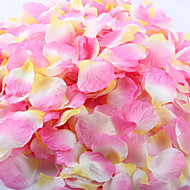 Dekoratif parti için 100 adet suni gül yaprağı düğün kırmızı beyaz sarı