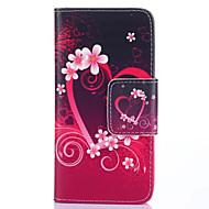 Недорогие Чехлы и кейсы для Galaxy S-Кейс для Назначение SSamsung Galaxy Кейс для  Samsung Galaxy Бумажник для карт Кошелек со стендом Флип Чехол С сердцем Кожа PU для S5