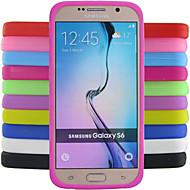 Недорогие Чехлы и кейсы для Galaxy S-сплошной цвет желе силиконовый чехол шаблон дизайна для Samsung Galaxy S6 g9200