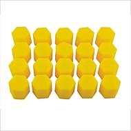 abordables Tapones para Válvula-20 piezas de la rueda de silicona de 17 mm auto del coche cubre neumáticos hub tapas roscadas polvo