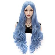 Недорогие Парики из искусственных волос-жен. Парики из искусственных волос Без шапочки-основы Очень длинный Естественные кудри Синий Карнавальные парики