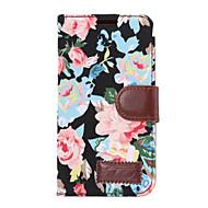 お買い得  携帯電話ケース-ケース 用途 HTC カードホルダー ウォレット スタンド付き フリップ フルボディーケース フラワー ハード PUレザー のために HTC One M9 HTC One M8