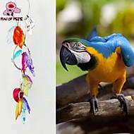 طائر لعب الطيور معدن البلاستيك متعددة الألوان