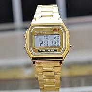 baratos Jóias & Relógios-Homens Quartzo Relógio de Pulso Fashion Aço Inoxidável Banda Casual Prata Dourada
