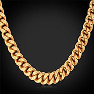 halpa -Miesten Muoto Muoti Choker-kaulakorut Kaulaketjut Collar Gold Plated Metalliseos Choker-kaulakorut Kaulaketjut Collar Häät Party