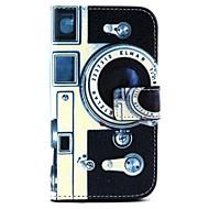Для Кейс для  Samsung Galaxy Чехлы панели Кошелек Бумажник для карт со стендом Флип Чехол Кейс для Мультяшная тематика Искусственная кожа