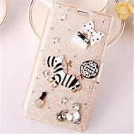 Mert Samsung Galaxy Note Kártyatartó / Strassz / Állvánnyal / Flip Case Teljes védelem Case 3D rajz Műbőr SamsungNote 4 / Note 3 Lite /
