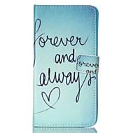 Mert Samsung Galaxy Note Pénztárca / Kártyatartó / Állvánnyal / Flip Case Teljes védelem Case Szó / bölcselet Műbőr SamsungNote 4 / Note