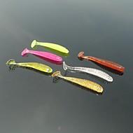 お買い得  釣り用アクセサリー-60 pcs ソフトベイト / ルアー ソフトベイト ソフトプラスチック スピニング / 川釣り / バス釣り / ルアー釣り / 一般的な釣り