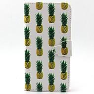 Для Кейс для  Samsung Galaxy Бумажник для карт / со стендом / Флип / Магнитный / С узором Кейс для Чехол Кейс для Фрукт Искусственная кожа