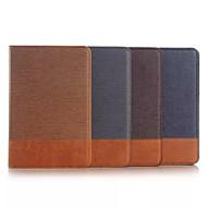 Недорогие Чехлы и кейсы для Samsung Tab-Для Кейс для  Samsung Galaxy Бумажник для карт / Кошелек / со стендом / Флип Кейс для Чехол Кейс для Один цвет Текстиль Samsung Tab A 9.7