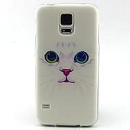 Недорогие Чехлы и кейсы для Galaxy S-Кейс для Назначение SSamsung Galaxy Кейс для  Samsung Galaxy С узором Кейс на заднюю панель Кот ТПУ для S5 Mini