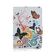 Tampa de capa de borboleta szkinston à prova de choque com stand sleep padrão magnético couro de corpo inteiro para todo o telefone