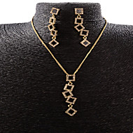 お買い得  -合成ダイヤモンド ジュエリーセット  -  ローズゴールド, イミテーションダイヤモンド ぜいたく, ヴィンテージ, パーティー 含める ローズゴールド 用途 パーティー 記念日 誕生日