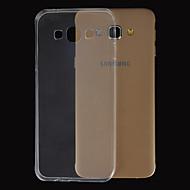 Для Кейс для  Samsung Galaxy Ультратонкий / Прозрачный Кейс для Задняя крышка Кейс для Один цвет TPU Samsung A8 / A7 / A5 / A3