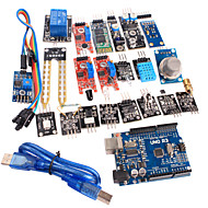 お買い得  Arduino 用アクセサリー-1センサモジュールキットとArduinoのための改良されたバージョンのUNO R3のatmega328p基板モジュール20