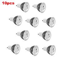 E14 GU10 GU5.3(MR16) E26/E27 LED Spotlight MR16 3 High Power LED 350 lm Warm White Cold White 3000K/6500K K Decorative AC 85-265 V