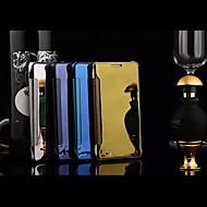 Для Кейс для  Samsung Galaxy Зеркальная поверхность / Флип / Прозрачный Кейс для Чехол Кейс для Один цвет PC Samsung A8 / A7 / A5