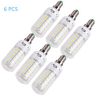 E14 E26/E27 LED Corn Lights T 48 SMD 5730 1000 lm Warm White Cold White 3000/6000 K Decorative AC 220-240 AC 110-130 V 6pcs
