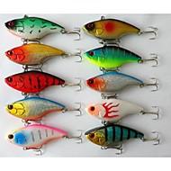"""voordelige Vissen en jagen-10 stk Trilling Kunstaas Trilling g / Ons, 75 mm / 3"""" duim, Metaal Zeevissen Zoetwater Vissen Vissen Met Aas"""