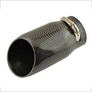 """3 """"de la inclinación de la entrada cortó la fibra del carbón coche de la impresión punta del silenciador del extractor para el audi a6l"""