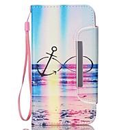 For Samsung Galaxy Note Kortholder / Pung / Med stativ / Flip Etui Heldækkende Etui Landskab Kunstlæder Samsung Note 3