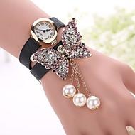 voordelige Bohémien horloges-Dames Modieus horloge Armbandhorloge Kwarts imitatie Diamond PU Band Vlinder BohémienZwart Wit Blauw Rood Orange Bruin Groen Roze Paars