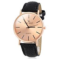 Недорогие Фирменные часы-V6 Муж. Наручные часы Кварцевый Повседневные часы PU Группа минималист Черный Белый Коричневый Желтый