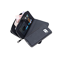 Недорогие Чехлы и кейсы для Galaxy Note-Кейс для Назначение SSamsung Galaxy Samsung Galaxy Note Кошелек Чехол Сплошной цвет Кожа PU для Note 5 Edge Note 5