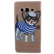 voordelige Mobiele telefoonhoesjes-hoesje Voor Samsung Galaxy Samsung Galaxy hoesje Kaarthouder Portemonnee met standaard Flip Volledig hoesje Hond PU-nahka voor Core Prime